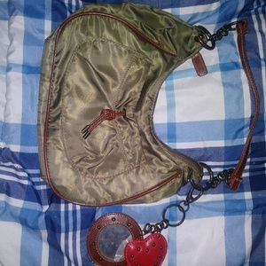Handbags - New Army Green Handbag W/Keychain Mirror+Pockets